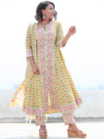 Jashn Apsara - Set of Anarkali Kurta Pants & Dupatta - KS29J2497D