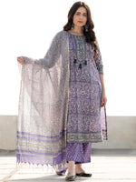 Zohra Samreena - Set of Straight Kurta Pants & Dupatta - KS47P2517D