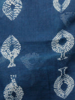 Indigo White Hand Shibori Dyed Kota Doria Saree in Natural Colors - S031702841
