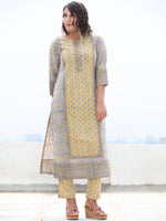 Jashn Ghazala - Set of Kurta Pants & Dupatta - KS76B2495D
