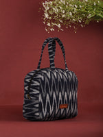 Navy Grey Ikat Bucket Style Hand Bag - B0706
