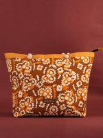 Mustard Yellow Hand Block Printed Tote Bag - B0802