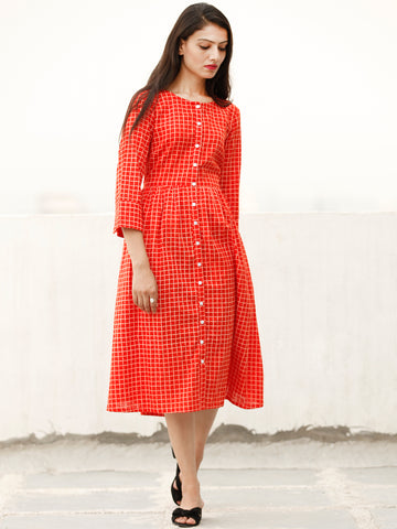 Relaxed Chic  - Block Printed Cotton Dress  - D366F1868
