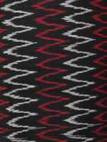 Black Red White Ikat Handwoven Cotton Suit Fabric Set of 3 - S1002001