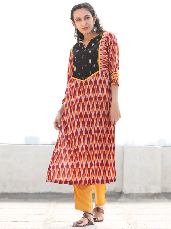 Tagai Vahida- Set of Ikat Kurta & Pants  - KS128A2430