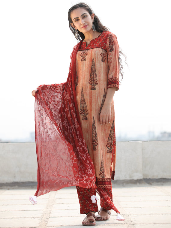 Bahaar Nada - Set of Kurta Pants & Dupatta - KS68CXXXD