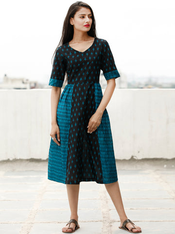Style With Ikat - Handwoven Ikat Cotton Dress - D363F1856