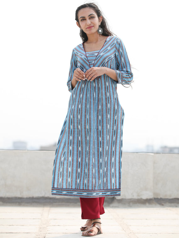 Tagai Rina - Set of Ikat Kurta & Pants  - KS129A922