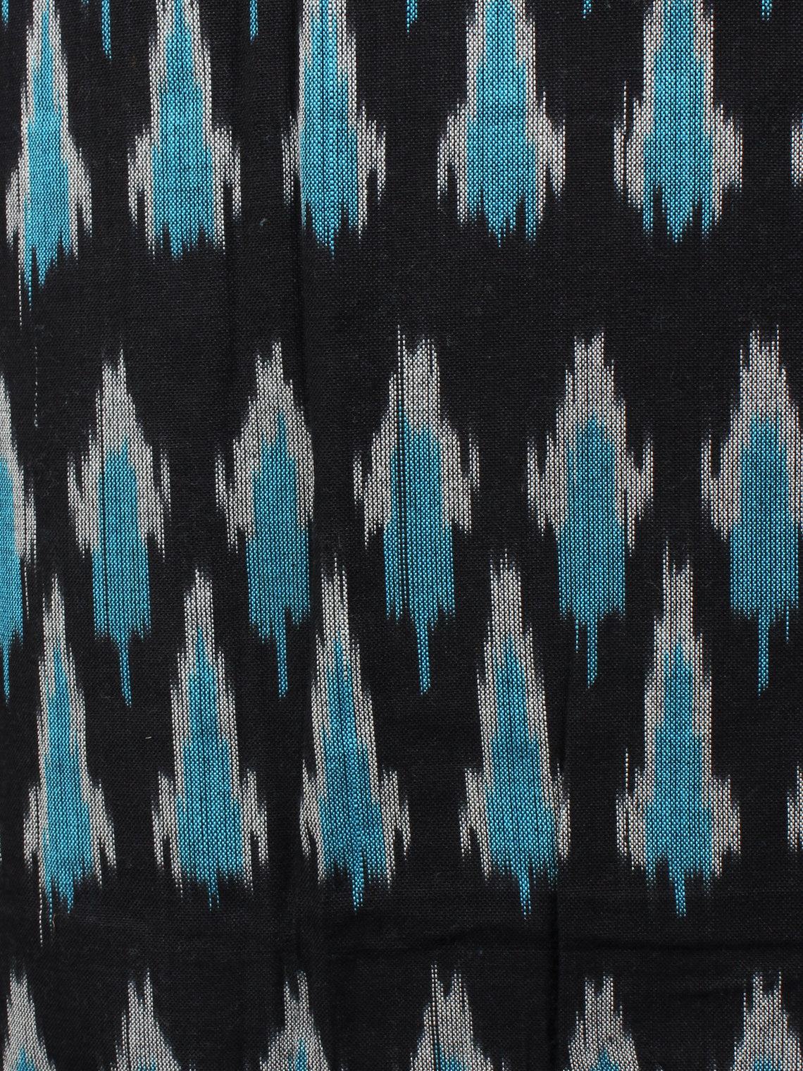 Azure Black White Ikat Handwoven Cotton Suit Fabric Set of 3 - S1002013
