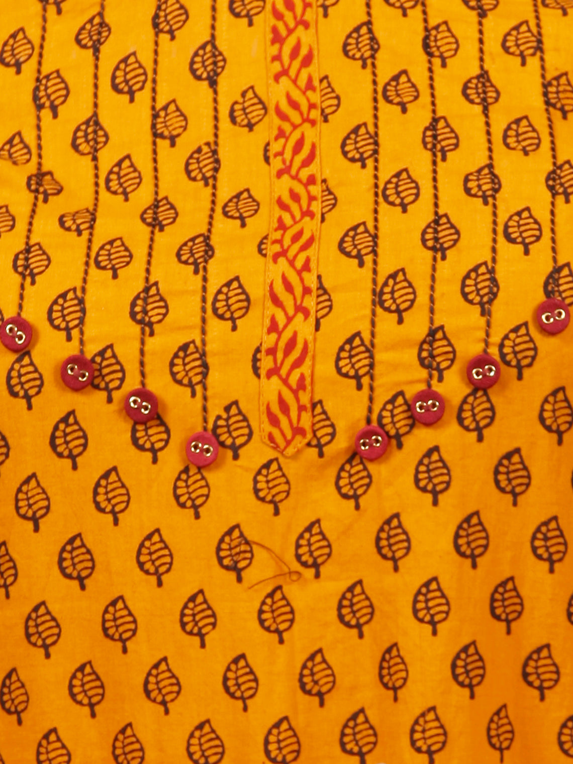 Orange Brown Bagh Printed Kurta in Natural Colors - K130F1705