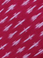 Red Black White Ikat Handwoven Cotton Suit Fabric Set of 3 - S1002023
