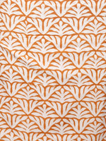 White Rust Orange Green Hand Block Printed Cotton Suit-Salwar Fabric With Chiffon Dupatta (Set of 3) - SU01HB347