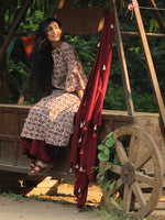 Classy Bells - Hand Block Printed Kurta Set With Dupatta - SS01F896