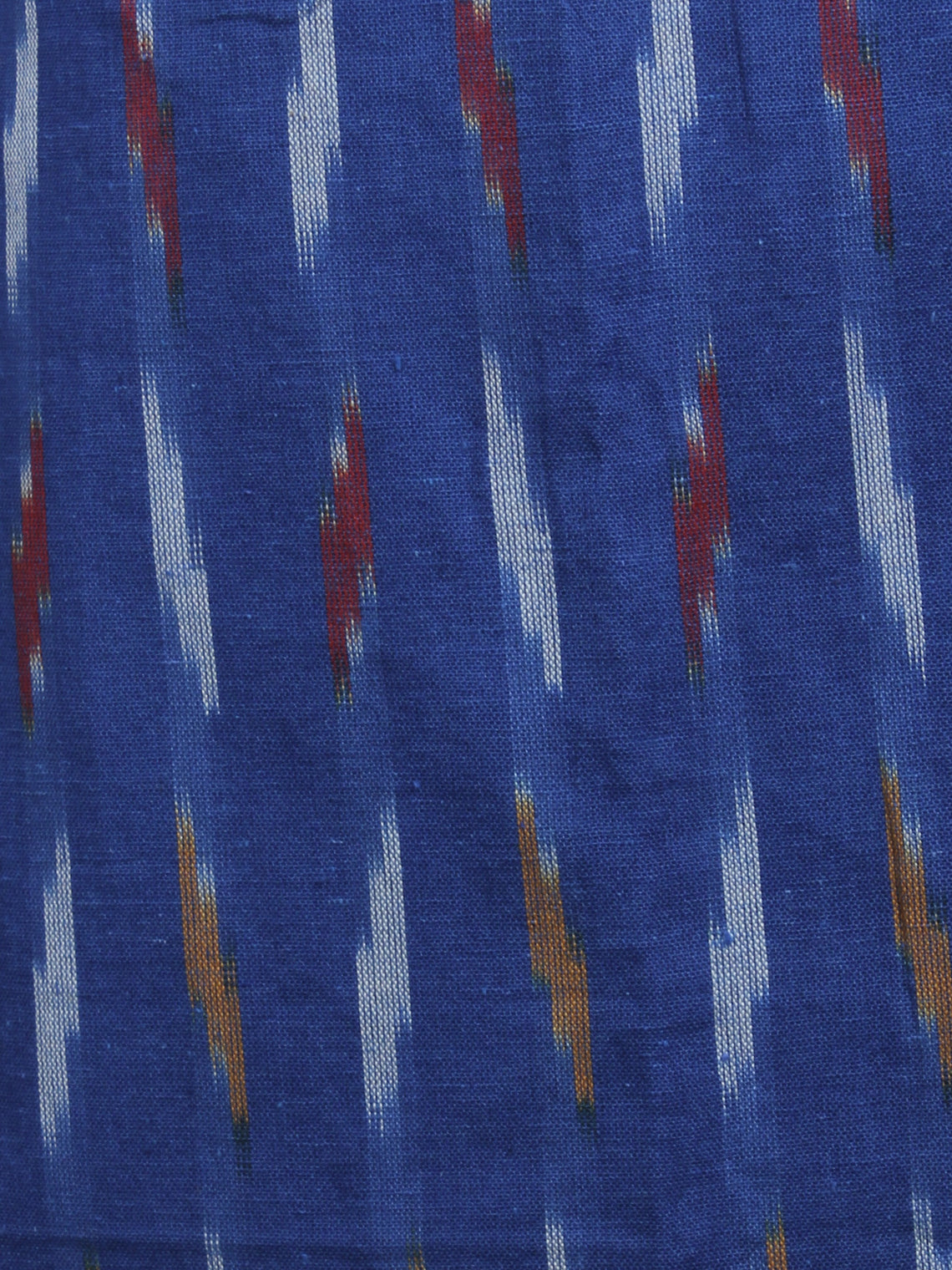Sapphire Blue Ivory Multi Color Ikat Handwoven Cotton Suit Fabric Set of 3 - S1002031