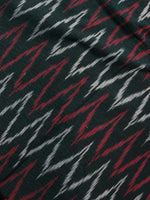 Black Red White Ikat Handwoven Cotton Suit Fabric Set of 3 - S1002039