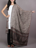 Beige Multi Color Cotton Mul Hand Block Printed Dupatta - D0417065