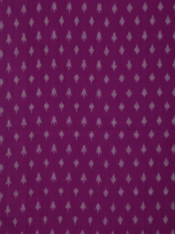 Purple Grey Pochampally Hand Weaved Ikat Mercerised Cotton Fabric Per Meter - F002F1745