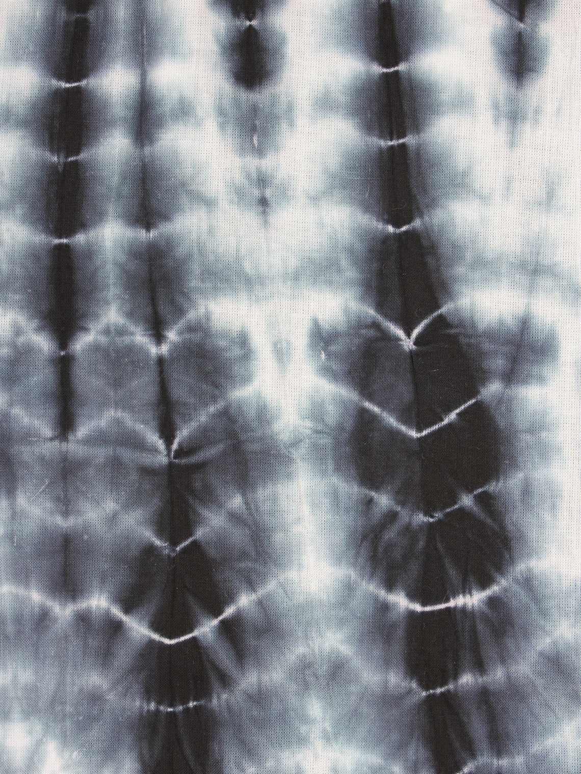 Black White Shibori Dyed Cotton Fabric Per Meter - F0916186