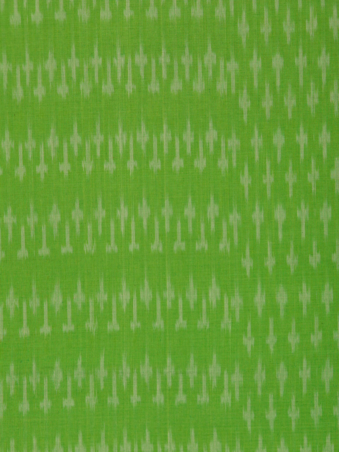 Parrot Green Grey Pochampally Hand Weaved Ikat Mercerised Cotton Fabric Per Meter - F002F1746