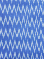 Blue Grey Hand Weaved Ikat Mercerised  Fabric Per Meter - F002F1413