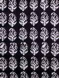 Black Ivory Bagh Printed Cotton Fabric Per Meter - F005F1697