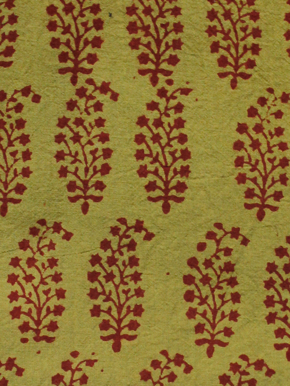 Olive Green Maroon Bagh Printed Cotton Fabric Per Meter - F005F1704