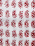 Beige Maroon Bagh Printed Cotton Fabric Per Meter - F005F1711