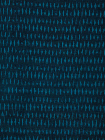 Blue Pochampally Hand Weaved Ikat Mercerised Cotton Fabric Per Meter - F002F1748