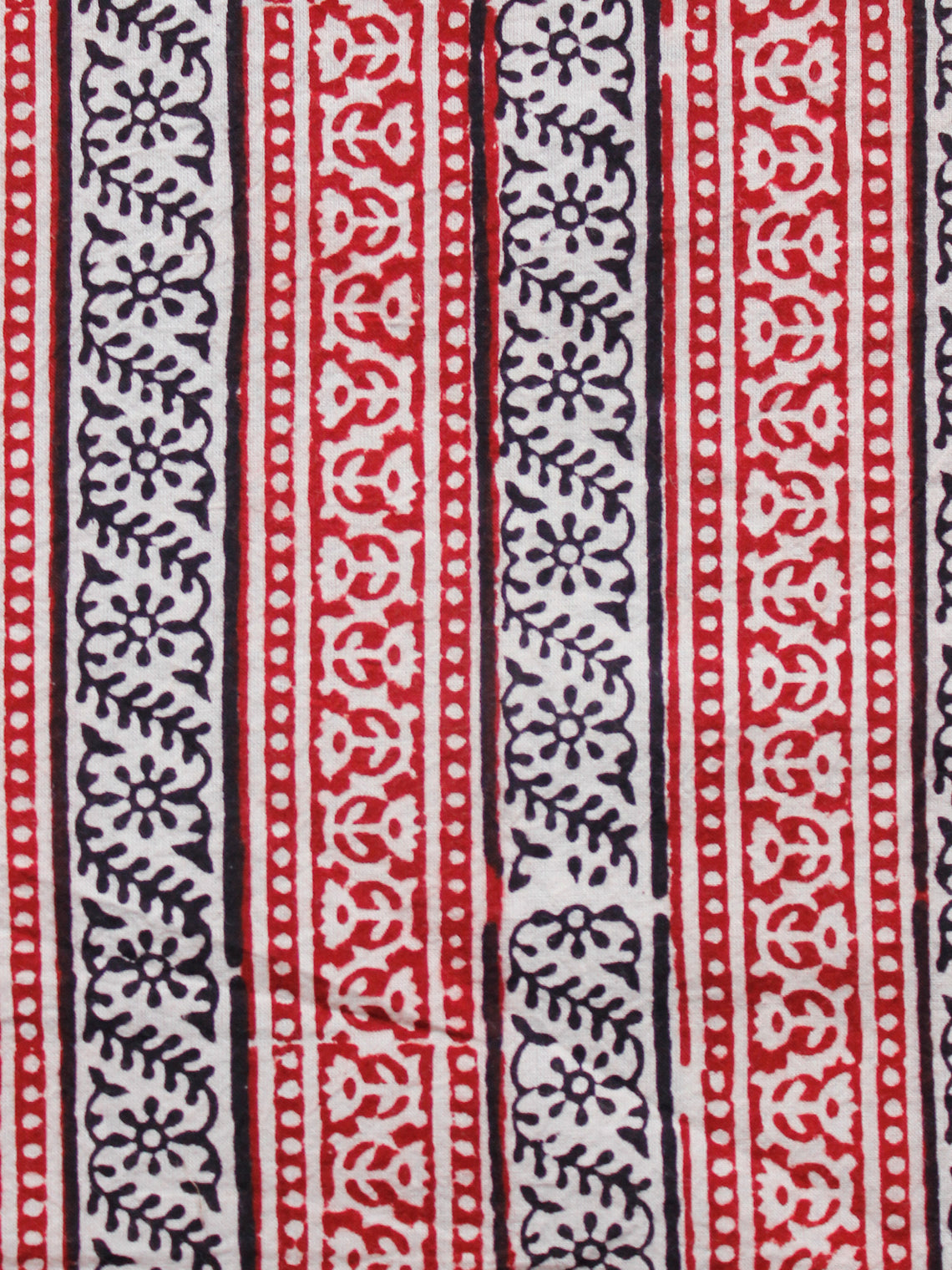 Beige Maroon Black Bagh Printed Cotton Fabric Per Meter - F005F1713