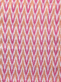 Ivory Pink Brown Pochampally Hand Weaved Ikat Mercerised Fabric Per Meter - F002F1567