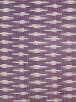 Lilac Ivory Pochampally Hand Weaved Ikat Mercerised Cotton Fabric Per Meter - F002F1962