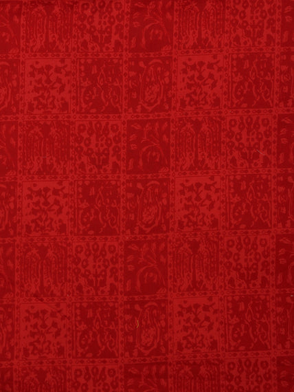 Crimson Red  Hand Block Printed Cotton Fabric Per Meter - F001F2007