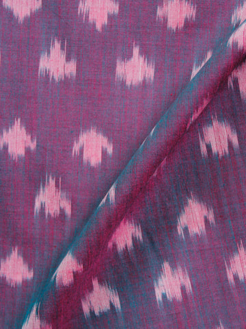 Purple Grey Pochampally Hand Weaved Ikat Mercerised  Fabric Per Meter - F002F1418