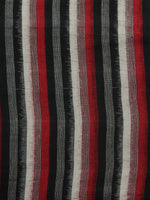 Black Ivory Red Pochampally Hand Woven Double Ikat Fabric Per Meter - F002F917