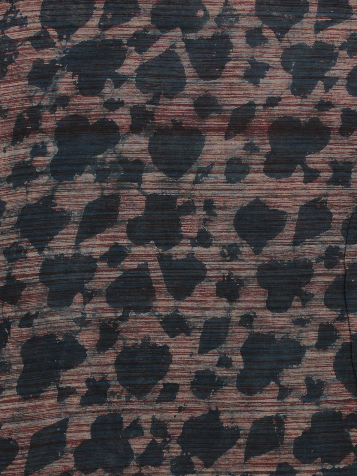 Grey Ivory Maroon Hand Block Printed Cotton Fabric Per Meter - F001F785