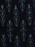 Black Ivory Pochampally Hand Weaved Ikat Mercerised Cotton Fabric Per Meter - F002F1035