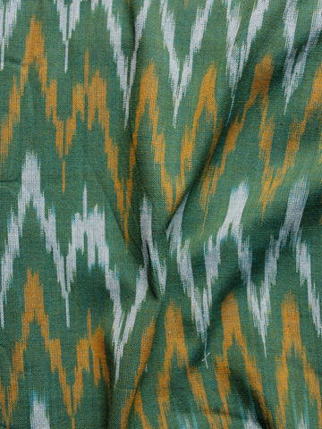 Grey Orange Ivory Pochampally Hand Woven Ikat Fabric Per Meter - F002F952