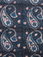 Black Brown Ivory Red Teal Blue Hand Block Printed Cotton Fabric Per Meter - F001F1731