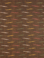 Brown Multi Color Pochampally Hand Weaved Ikat Fabric Per Meter - F0916732