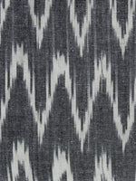 Grey Ivory Pochampally Hand Woven Ikat Fabric Per Meter - F002F953