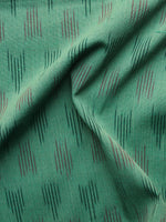 Green Red  Pochampally Hand Weaved Ikat Fabric Per Meter - F003F1232