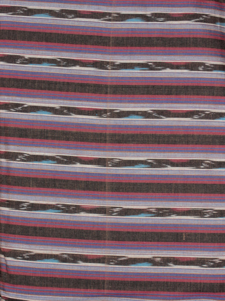Pink Ivory Multi Color Pochampally Hand Weaved Ikat Fabric Per Meter - F0916733