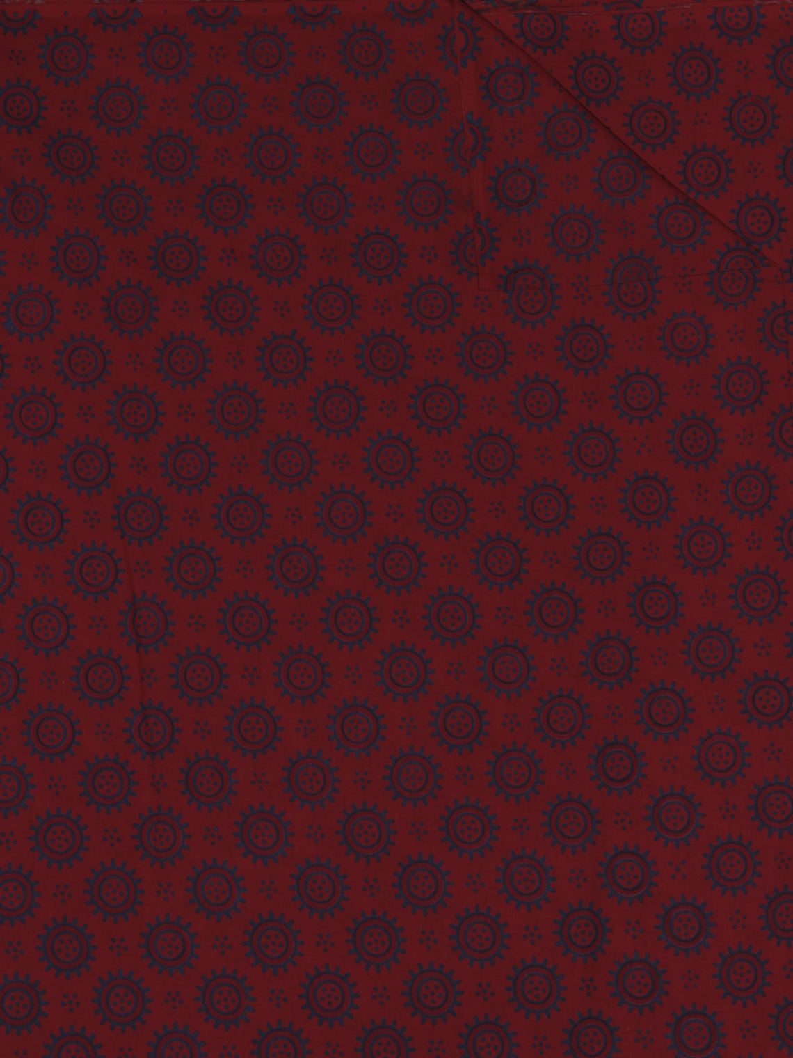 Maroon Grey Ajrakh Screen Printed Cotton Fabric Per Meter - F0916693