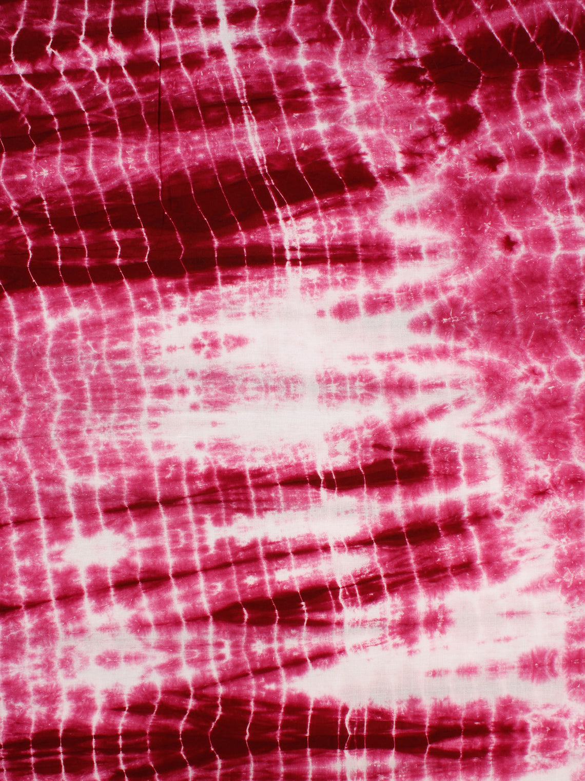 Pink White Shibori Dyed Cotton Fabric Per Meter - F0916185