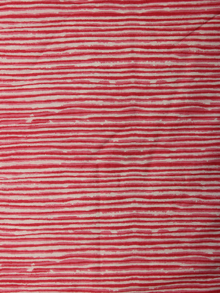 Pink Ivory Hand Block Printed Cotton Fabric Per Meter - F001F2012