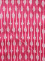 Coral Red Grey Hand Weaved Ikat Mercerised  Fabric Per Meter - F002F1423