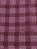 Purple Brown White Hand Block Printed Cotton Cambric Fabric Per Meter - F0916177
