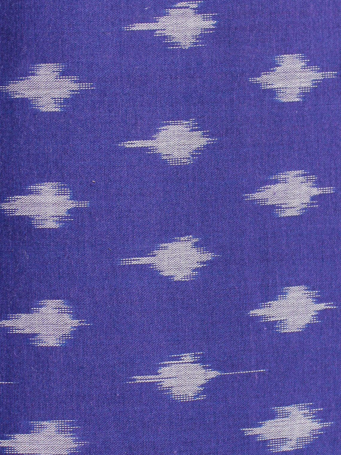 Purple Grey Pochampally Hand Weaved Ikat Mercerised Cotton Fabric Per Meter - F002F1968