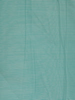 Sea Green White Block Printed Cotton Fabric Per Meter - F001F2375