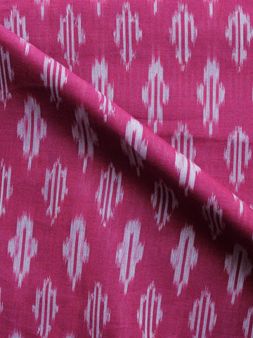 Pink Grey Pochampally Hand Weaved Ikat Mercerised  Fabric Per Meter - F002F1428
